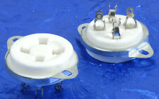 4 Pin White Ceramic Bottom Chassis Mount Tube Socket 300B, 2A3, 6A3 Etc.