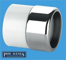 Chrome Waste Pipe 32mm to Plastic