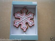 New ! Holiday Christmas SnowFlake Sprinkles Tree Topper for Christmas Tree Pink