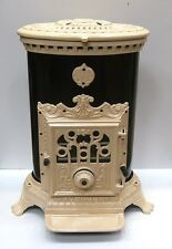 NEW French 7kw Godin 3726 Stove Cast Iron Wood Burner Coal multifuel Oval Cream