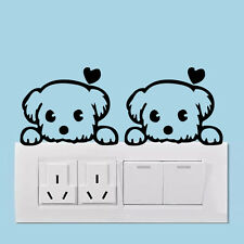 Cute Cartoon Dog Switch decor Vinyl Dog Heart wall decals home decor wallpaper
