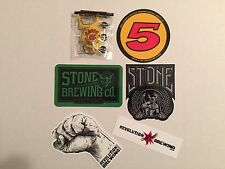 Beer Stickers Lot Stone Racer 5 Revolution Decals & Keychain Bottle Opener