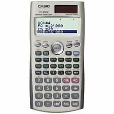 CASIO FC-200V - FC200V - Calculadora financiera, 12.2 x 80 x 161 mm, gris