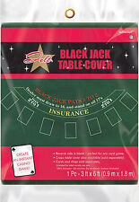 Casino Night FELT Blackjack Table Cover Game Casino Night Party Games Cloth