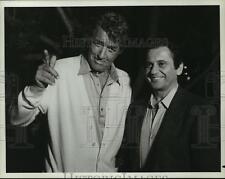 1985 Press Photo Actors Dean Martin and Joe Pesci star in NBC-TV's Half-Nelson