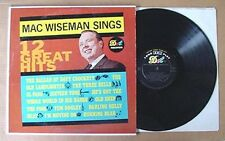 MAC WISEMAN SINGS - 12 GREAT HITS - DOT LABEL LP