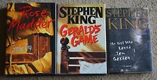 3 VERY GOOD condition, Stephen King books, hardcover