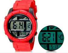 SHORS Red Unisex LED Digital Waterproof Watch