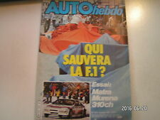 ** Auto Hebdo n°303 Matra Murena Politecnic ROC / Monte Carlo / Martini F 3