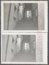 Unusual Vintage Photos Pair of Views Matching Cobblestone Persectives 725878