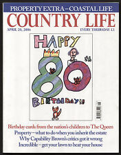 Country Life Apr 2006 CAPABILITY BROWN QUEEN'S 80th GEOTHERMAL PUMP FINEST MANOR