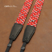 Red/White/Navy Blue Adjustable Woven Cotton Cam-in DSLR Camera Strap CAM8796 UK
