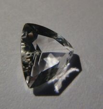 AUTHENTIC 1.25 Carat - Faceted NY Herkimer Diamond - Trillion Cut -AAA Eye Clean