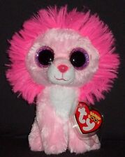 """TY BEANIE BOOS BOO'S - FLUFFY the 6"""" LION - MINT with MINT TAGS"""