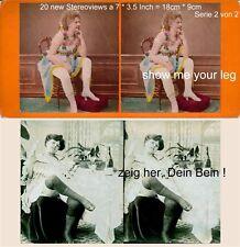 Zeig mir Dein Bein ! 20 erotische Stereofotos semi Nude um 1860 - 1900, Lot 2