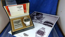 Vintage Heuer ChronoSplit Digital LCD Watch 1970s Minty Box Papers Shop Display
