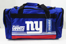 "New York Giants DUFFEL Bag Stripes Gym Training New 20"" x 11"" x 11"" NFL NY"
