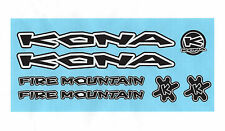 """KONA FIRE MOUNTAIN""  Set of 7 Stickers/Decals in Black/White Style"