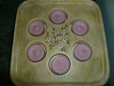PartyLite Terrace Blossom 3 Wick & Multi Tealight Holder ~ Excellent Pre-Owned
