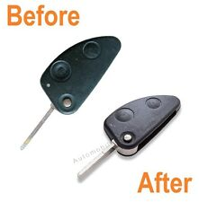 Repair service for Alfa Romeo 147 156 166 GT 2 button flip remote key fix