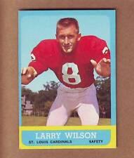 SHARP 1963 Topps #155 Larry Wilson ROOKIE CARD - St. Louis Cardinals Utah HOF !!