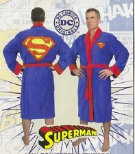Superman Costume Adult Cotton Velour Toweling Bath Robe, NEW UNWORN