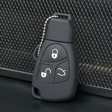 Black Silicone Remote Key Fob Case Cover holder For Mercedes Benz protective
