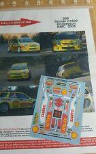 Decals 1/43 réf 908 Suzuki Swift s1600 Andersson Monte Carlo 2005