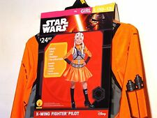 Child Girl DISNEY STAR WARS PILOT Large 10-12 Halloween Costume Dress Up