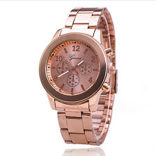 Fashion Geneva Full Stainless Steel Quartz Watch Women Armbanduhr Watch Men RG0