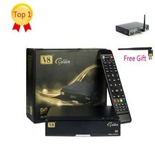 Freesat V8 Golden DVB S2/T2/C Satellite Receivers TV Combo +Free USB WIFI Dongle