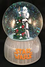 Star Wars Stormtrooper Christmas Tree Musical Snow Globe See Video!