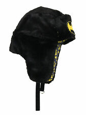 Batman Bat Signal DC Comics Adult Mens Winter Faux Fur Reversible Trapper Hat