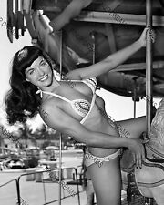 "Bettie Page 10"" x 8"" Photograph of Irving Claws Burlesque Queen 1950's reprint"