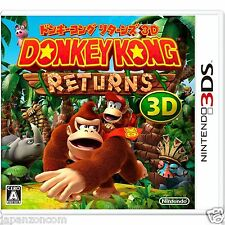 Used Donkey Kong Country Returns 3D NINTENDO 3DS JAPANESE  IMPORT