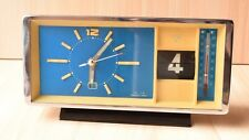 Vintage Retro Mechanical Chinese Alarm Clock Diamond With Date And Thermometer