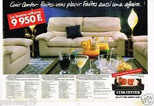 Publicité advertising 1986 (2 pages) Canapé Cuir Center