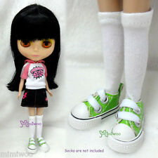 "Mimi Collection 12"" Neo Blythe Pullip Doll PU Leather MICRO Shoes Sneaker GREEN"