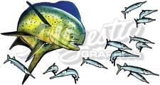 DOLPHIN FISH - 420mm x 230mm - Boat Kayak Car Decal