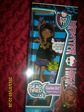 MONSTER HIGH CLAWEEN WOLF DAUGHTER OF THE WEREWOLF  DEAD TIRED
