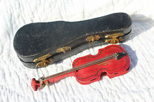 Early 1900s ANTIQUE TINY DOLL VIOLIN & CASE