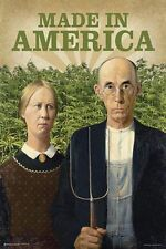 MADE IN AMERICA - WEED POSTER - 24x36 POT MARIJUANA SMOKING 10745