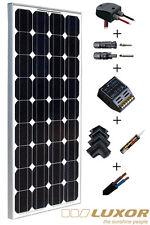 Kit panneau solaire 100W 12V pour camping car complet marque allemande Luxor.