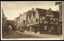 Old Rare Postcard High Street Salisbury Wiltshire Unused (Ref: AL238)