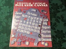 LEISURE ARTS leaflet 1332 PERPETUAL CALENDAR IN PLASTIC CANVAS