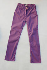 HENRY COTTON'S LADIES Purple Pants JEANS STRAIGHT STRETCH FIT W28 UK10 Trousers