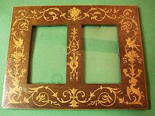 Cadre XIXe bois marqueterie Charles X palissandre et citronnier - 20,8 x 16,6