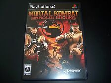Replacement Case (NO GAME) Mortal Kombat Shaolin Monks Sony PS2 Playstation 2