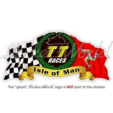 ISLE of MAN TT Races MANX Moto GP Racing Fahrradhelm Sticker Aufkleber 100mm
