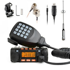 Mini Dual Band KT-8900 136-174/UHF400-480MHz Two-Way car mobile Radio 25W+ Cable
